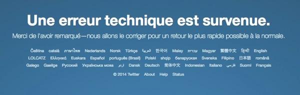 Twitter Hors Service