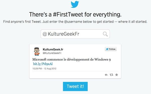 Twitter Premier Tweet KultureGeek