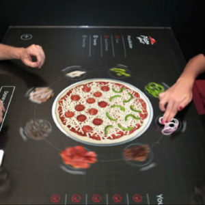 pizza hut table tactile concept