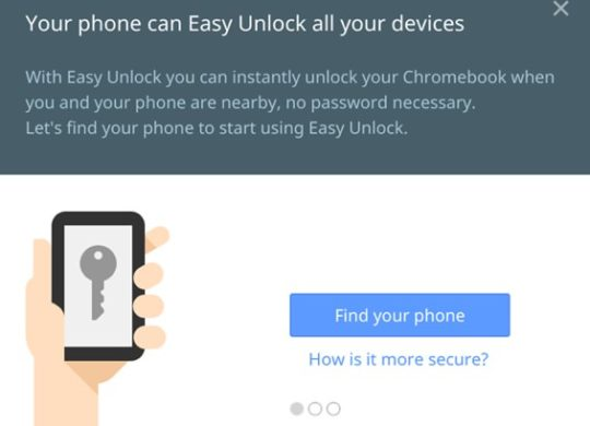 Chrome OS Easy Unlock