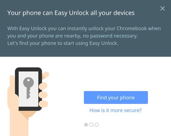 Chrome OS Easy Unlock
