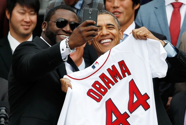 David Ortiz Selfie Obama