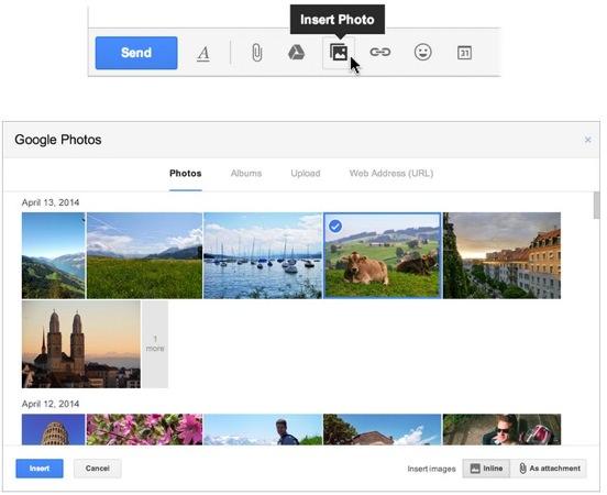 Gmail Envoi Rapide Photo