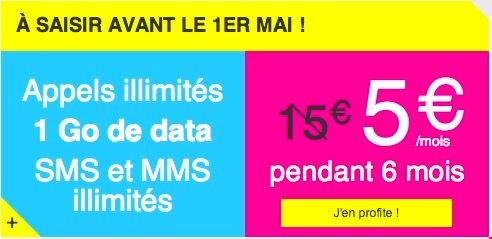 Joe Mobile Forfait Illimite 1 Go 5 Euros