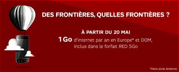 SFR RED 1 Go Data Europe DOM