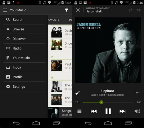 Spotify Android Nouveau Design 2