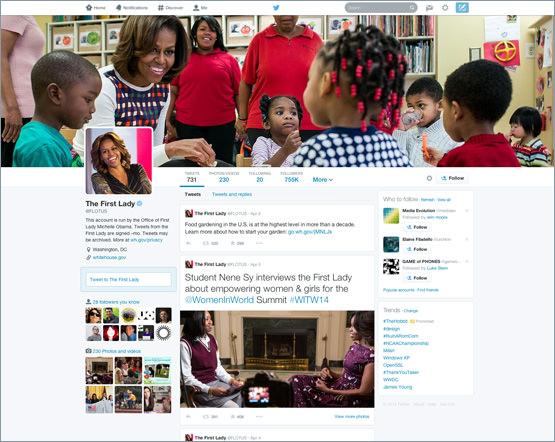 Twitter Nouveau Design Profil Avril 2014