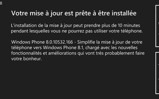 Windows Phone 8.1 Mise a jour Developpeur