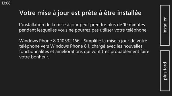 Windows Phone 8.1 Mise a jour Developpeur