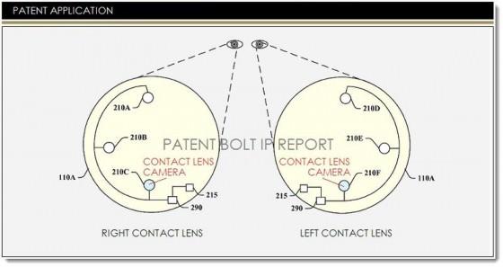 brevet- Google Glass-lentilles