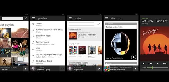 Spotify Windows Phone Mai 2014