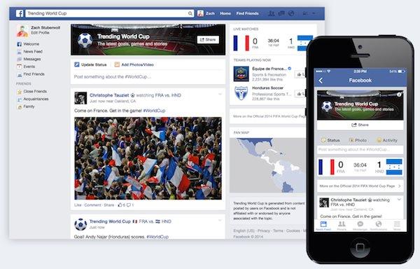 Facebook Coupe du Monde Bresil 2014