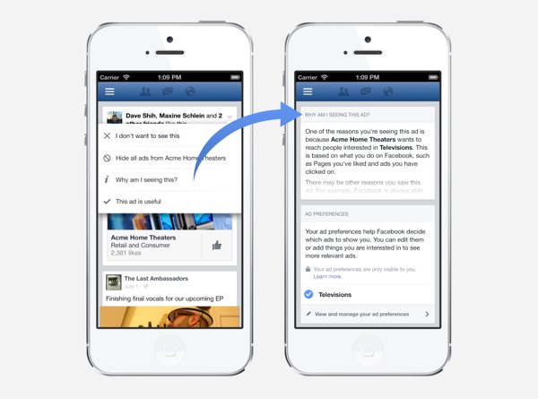 Facebook Publicite Preferences Mobile
