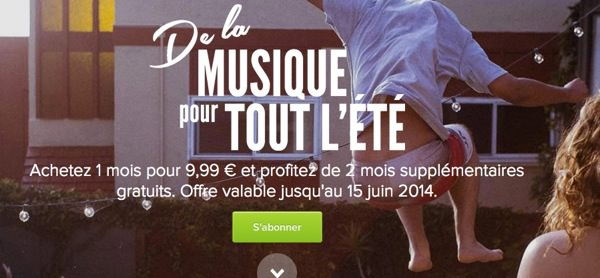 Spotify Deux Mois Offert Ete 2014