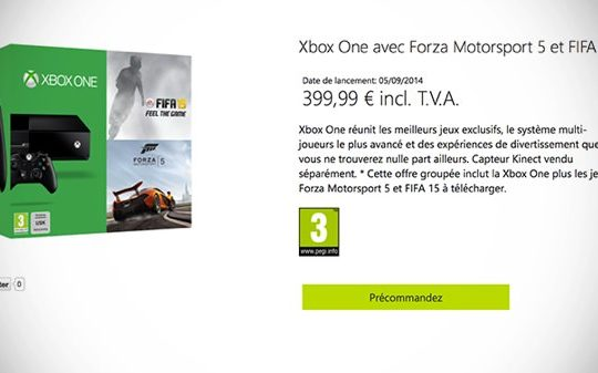 Bundle Xbox One FIFA 15 Forza 5