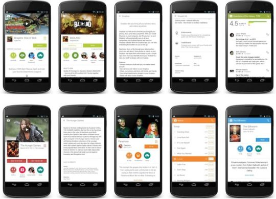 Google Play Android Interface Material Design