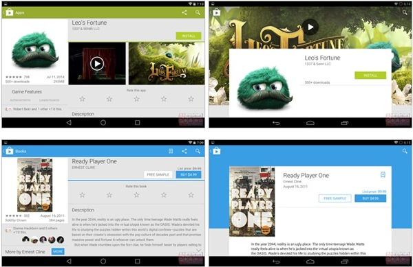 Google Play Comparaison Avant Apres Tablette