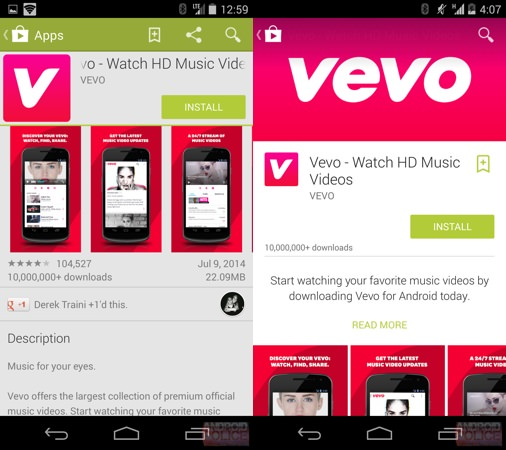 Google Play Nouveau Design Smartphone