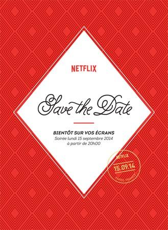 Netflix Invitation 15 Septembre Soiree Lancement