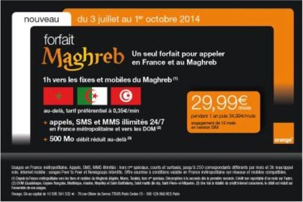 Orange Forfait Maghreb