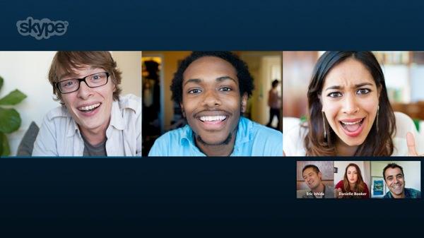 Skype Appel vidéo de groupe
