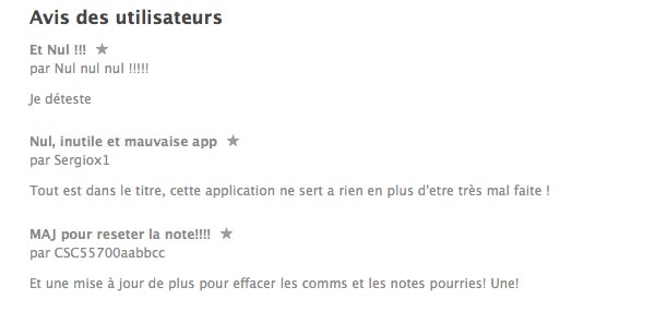 Facebook Messenger Avis App Store