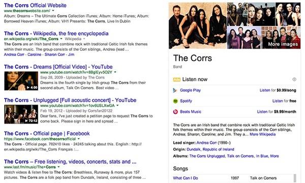 Google Recherche Ecoute Musique Streaming