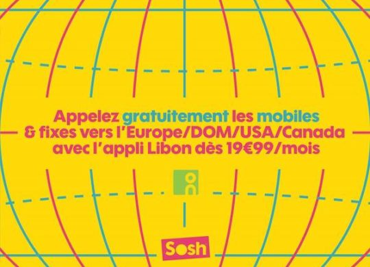 Sosh Appels Inclus Libon DOM Europe USA
