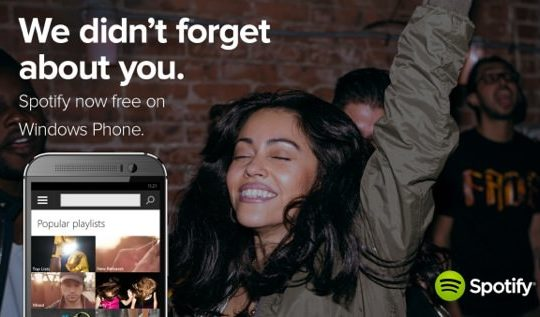 Spotify Gratuit Windows Phone