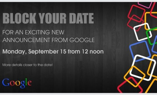 Google Conference Inde 15 Septembre 2014