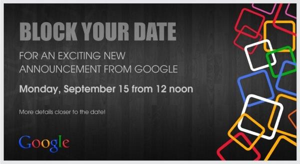 Google Conference Inde 15 Septembre 2014