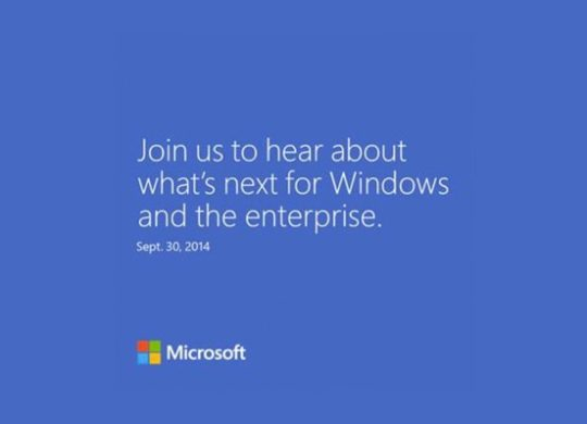 Microsoft Conference 30 Septembre 2014 Windows 9