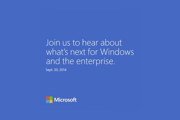 Microsoft Conference 30 Septembre 2014 Windows 9