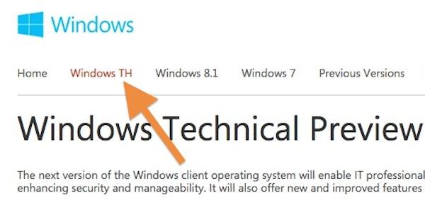 Windows TH Fuite