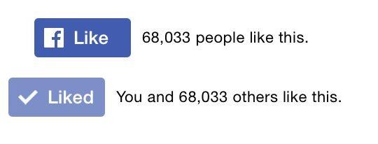 Facebook Bouton J'aime Mobile