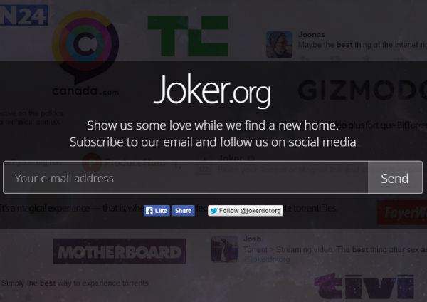 Joker.org Fermeture