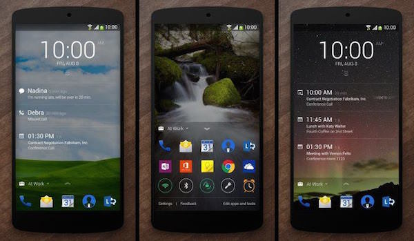 Microsoft Next Lock Screen Applicaiton Android
