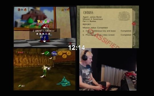 Speed Run Mario 64 Goldeneye Ocarina of Time 51 Minutes
