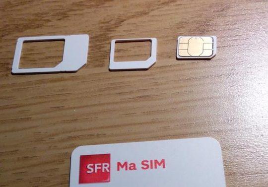 Carte SIM Triple Decoupe SFR