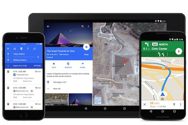 Google Maps Application Material Design