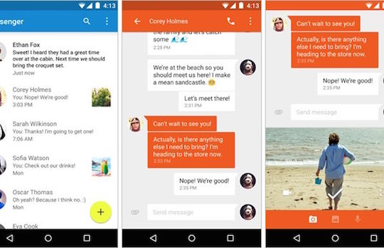 Google Messenger Application Android