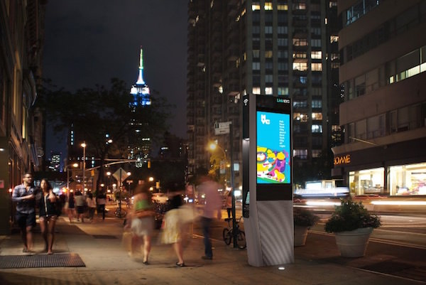 LinkNYC Borne Wi-Fi New York