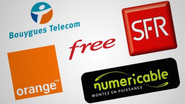 Orange SFR Bouygues Free Numericable