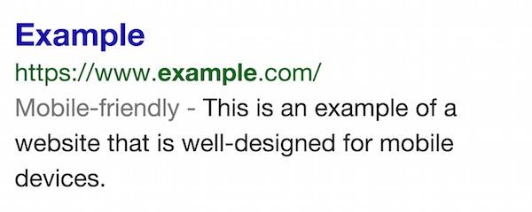 Recherche Google Site Optimise Mobile