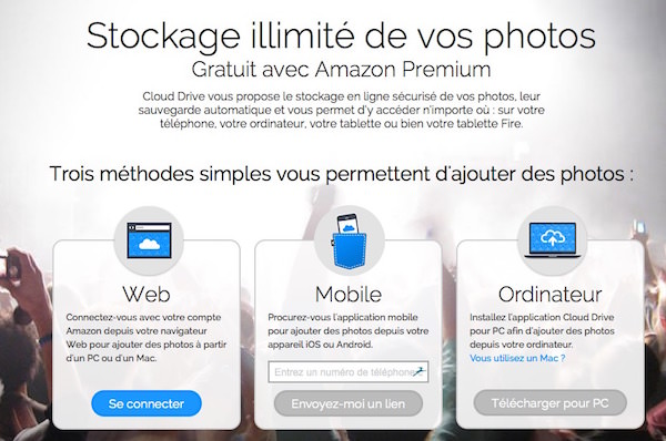 Amazon Stockage Photo France