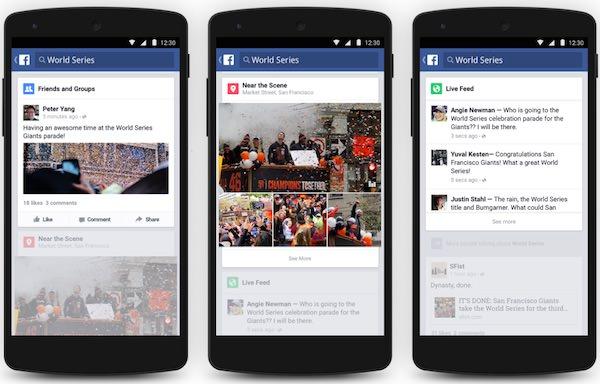 Facebok Tendances Android