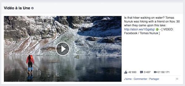 Facebook Video a la une