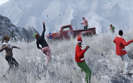 GTA 5 Bataille Boules de Neige