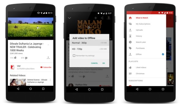 YouTube Android Video Hors-Ligne