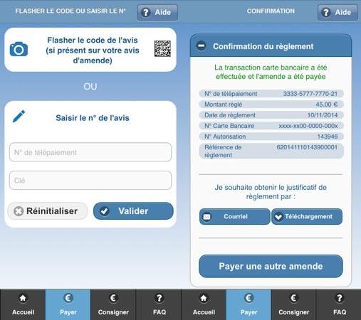Amendes.gouv Application iPhone
